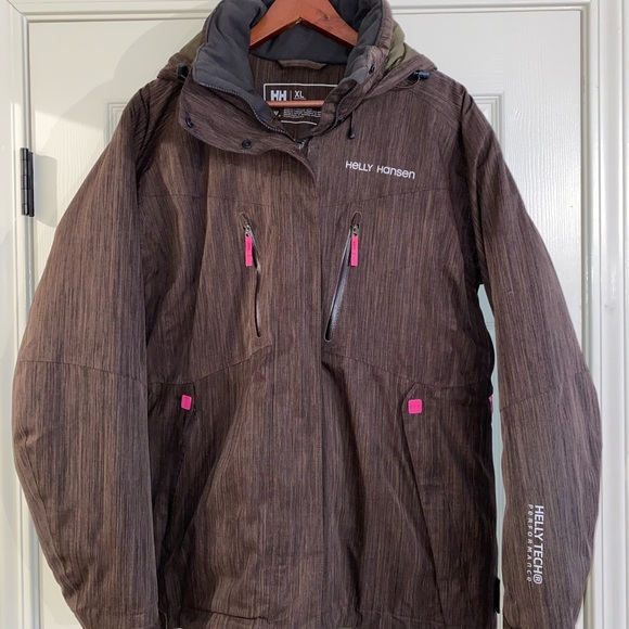 HELLY HANSEN Womens Deep Plum Seven J Light Waterproof Jacket Medium 12 BNWT
